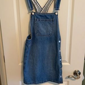 NWOT Free People denim overall dress